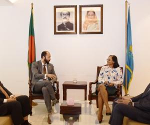 Consul of Singapore in Bangladesh Ms. Sheela Pillai called on DCCI President